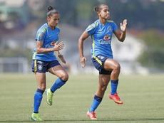 Juliete Silva (izquierda) es internacional absoluta con Brasil. SportingHuelva
