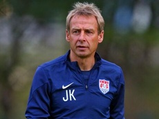 Jurgen Klinsmann, seleccionador de Estados Unidos, en un entrenamiento. Twitter