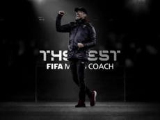 Klopp se llevó el 'The Best' a mejor entrenador. FIFA.com