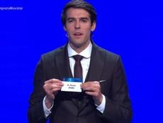 Kaká, en el sorteo de la Champions League 2018. Captura