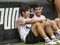 Rodrigo continúa entrenando con un grupo sin Carlos Coler. ValenciaCF