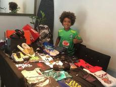 Kauan Basile firmó con Nike con 8 años. Instagram/Kauan.basile