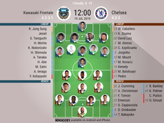 Kawasaki Frontale v Chelsea, pre-season friendly, 19/7/2019 - Official line-ups. BESOCCER