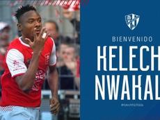 Nwakali quitte Arsenal et signe à Huesca. Twitter/SDHuesca