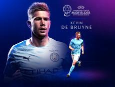 De Bruyne meilleur milieu UEFA. UEFA