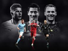 Lewandowski, De Bruyne e Neuer, os finalistas. UEFA
