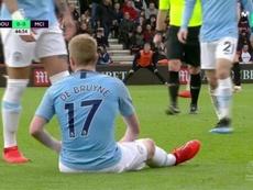 El belga sufrió una nueva lesión. Captura/MovistarLigadeCampeones