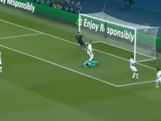 El Real Madrid no pudo sumar ningún disparo a puerta ante el PSG. Captura/Movistar+