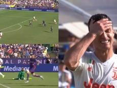 Khedira decidió darle el balón a Cristiano antes de rematar a portería. Captura/SkySport
