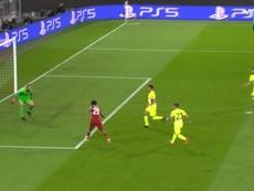 Coman abriu o placar para o Bayern. Captura/MovistarLigadeCampeones