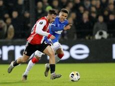 El Feyenoord empató tras ver cómo remontaban los escoceses. Twitter/Feyenoord