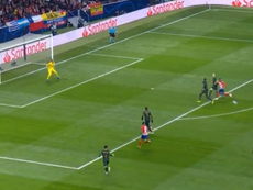 Koke scored for Atletico Madrid against Monaco. Captura/RMCSports