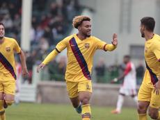 Konrad cuajó una destacada actuación e hizo dos goles. FCBMasia
