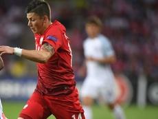 Kownacki seguirá en el Fortuna Düsseldorf. AFP