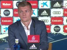 Kroos, orgulloso por su renovación. Captura/RealMadridTV