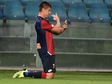 Genoa forward Piatek is the hottest property in Europe at present. AFP