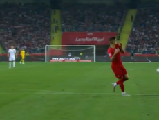 Kuba scored with a spectacular volley. Captura Bein English