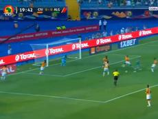 L'Algérie ouvre le score face à la Cote d'Ivoire par l'intermédiaire de Feghouli. Capture/BeinSports