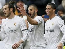 Zidane nunca ha disfrutado de la 'bbc' al completo durante 90 minutos. EFE