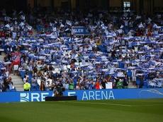 Parte de la afición se desplazó a Madrid. RealSociedad
