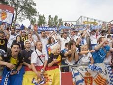 El Zaragoza es el nuevo líder de la Segunda División. EFE