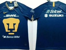 Filtrada la camiseta visitantes de Pumas. Twitter/ElPumaSport