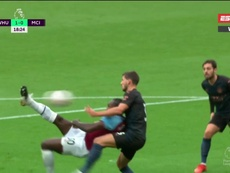 Michail Antonio scored a superb goal to put West Ham ahead. Screenshot/ESPN