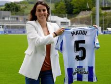 Maddi Torre es la única futbolista que no ha hecho huelga. RealSociedad