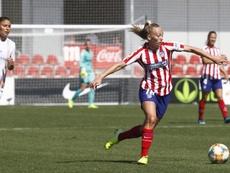 Toni Duggan se mostró satisfecha con el partido ante el City. Twitter/AtletiFemenino