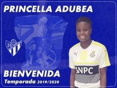 El club anunció su llegada oficial. Twitter/SportingHuelva