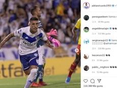 Di María y Araujo se rinden a Centurión. Instagram/AdrianRicardo1993