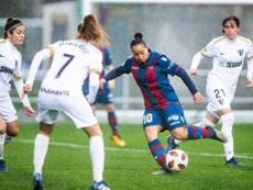 Charlyn podría ser la primera estrella del Real Madrid Femenino. Twitter/LevanteUDFemenino