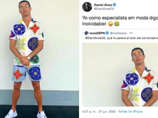 Ronaldo wore some striking clothes. Twitter/Cristiano - DaniAlvesD2
