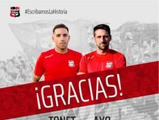 La Nucía agradece el trabajo de los futbolistas. Twitter/cfnucia