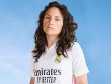 Ivana ha sido la elegida por el Madrid para presentar la nueva camiseta. Twitter/RealMadridCF
