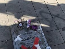 Tifosi contro Courtois. AFP