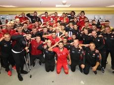 Cinco clubes alemanes podrían ser sancionados por saludos militares. Twitter/MilliTakimlar