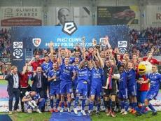 El Piast Gliwice gana su primera Liga en Polonia con dos españoles. Twitter/Piast GliwiceSA