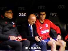 La respuesta de Morata a los cánticos. Captura/EldiaDespues