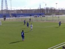 El Getafe B venció al Castilla. Captura/RealMadridTV
