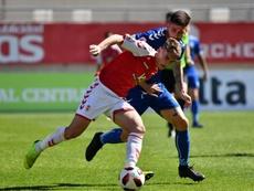 Lance del partido entre el Real Murcia y el Marbella. RealMurciaCFSAD