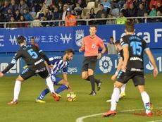 Lance del partido entre Lorca y Lugo en el Artés Carrasco. LaLiga