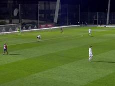El Castilla logró tres goles en cinco minutos. Captura/Twitch/RealMadrid
