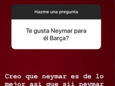 Filho de Quique Setién pede Neymar no Barcelona. Instagram/LaroSetien