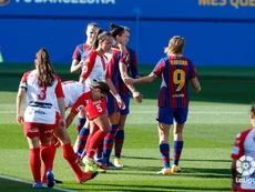 El Barça Femenino lleva ya 38 goles a favor en solo siete partidos. LaLiga