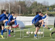 El Athletic femenino entrenará para no perder la forma. AFP