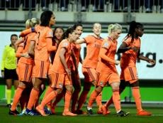 El Olympique hizo bueno el 2-1 de la ida. Twitter/OLfeminin