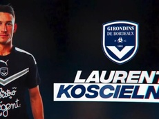 Koscielny has completed his move to Bordeaux from Arsenal. Twitter/girondins