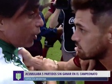 Lautaro Acosta perdió los nervios y desató la tangana. Captura/FOX