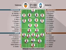Le formazioni di Valencia-Atalanta. BeSoccer